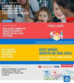 Ofertas Bancos e serviços no folheto Caixa Geral de Depositos em Lisboa ( Mais de um mês )