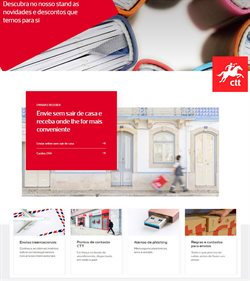 Ofertas Bancos e serviços no folheto CTT em Lisboa ( Mais de um mês )