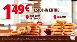 Promoção de Burger King no folheto de Lisboa