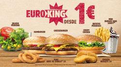 Promoção de Restaurantes e snack-bares no folheto de Burger King em Lisboa
