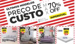 Promoção de Feira dos Sofás no folheto de Braga