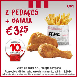 Cupão KFC em Lisboa ( 29 dias mais )