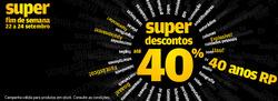 Promoção de Radio Popular no folheto de Alcabideche