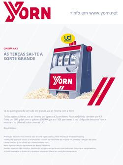 Promoção de Uci Cinemas no folheto de Lisboa