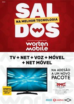 Promoção de Worten Mobile no folheto de Vila Nova de Gaia