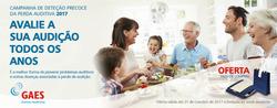 Promoção de GAES Centros Auditivos no folheto de Lisboa