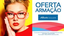 Promoção de Óticas e centros auditivos no folheto de Alberto Oculista em Lisboa