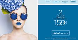 Promoção de Óticas e centros auditivos no folheto de Alberto Oculista em Alcabideche