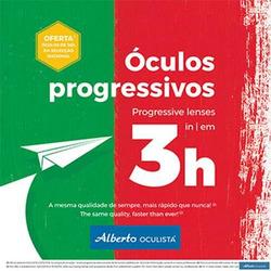 Promoção de Óticas e centros auditivos no folheto de Alberto Oculista em Funchal