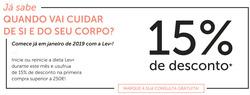 Promoção de LEV no folheto de Lisboa