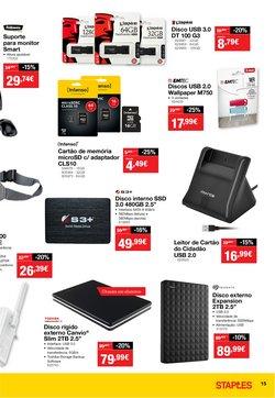 Promoções de USB em Staples