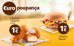 Promoção de McDonald's no folheto de Lisboa