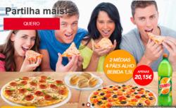 Promoção de Telepizza no folheto de Viseu