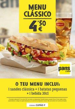 Ofertas de Restaurantes no folheto Pans&Company (  10 dias mais)