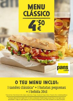 Ofertas de Restaurantes no folheto Pans&Company (  7 dias mais)
