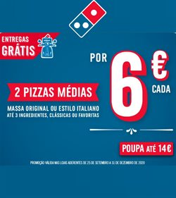 Ofertas Restaurantes no folheto Domino's Pizza ( Mais de um mês )