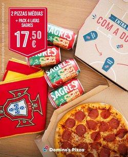 Ofertas de Restaurantes no folheto Domino's Pizza (  14 dias mais)