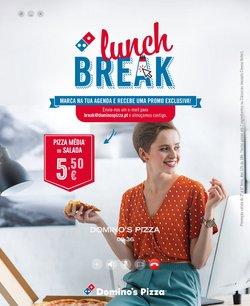 Ofertas de Restaurantes no folheto Domino's Pizza (  8 dias mais)