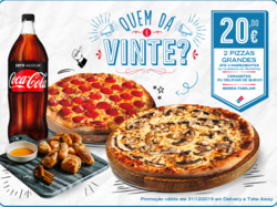 Promoção de Domino's Pizza no folheto de Lisboa