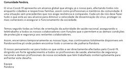 Cupão Pandora em Amadora ( Publicado ontem )