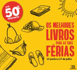 Promoção de Livros e lazer no folheto de Almedina em Vila Nova de Gaia