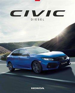 Promoção de Automóveis no folheto de Honda em Leiria