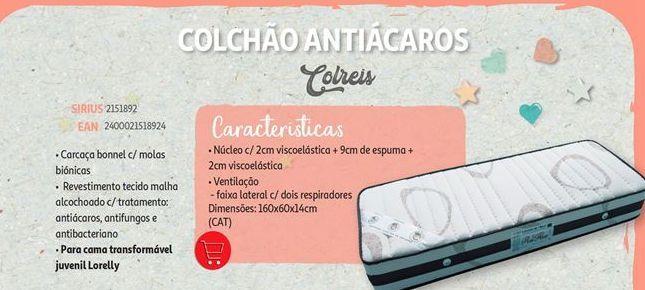 Oferta de Colchão antiacaros Colreis por