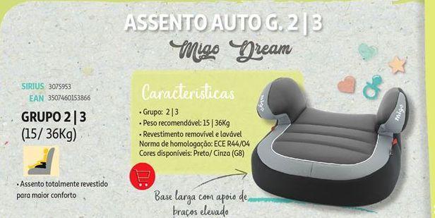Oferta de Assento de criança para carro Migo Dreams por