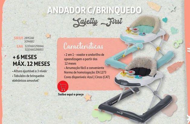 Oferta de Andador c/brinquedo Safetty First por