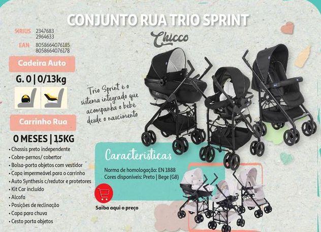 Oferta de Conjunto rua trio sprint Chicco por