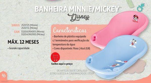 Oferta de Banheira Mickey/ Minnie Disney por
