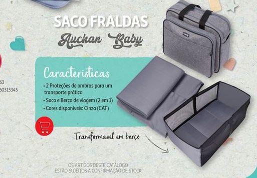 Oferta de SACO FRALDAS AUCHAN BABY por