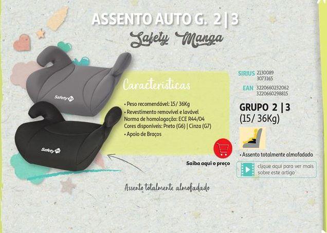 Oferta de Assento de criança para carro Safety Manga por