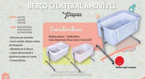 Oferta de Berço c/ lateral amovivel Pispas por