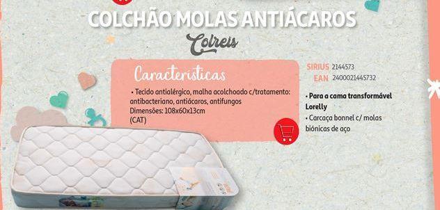 Oferta de Colchão molas antiacaros Colreis por