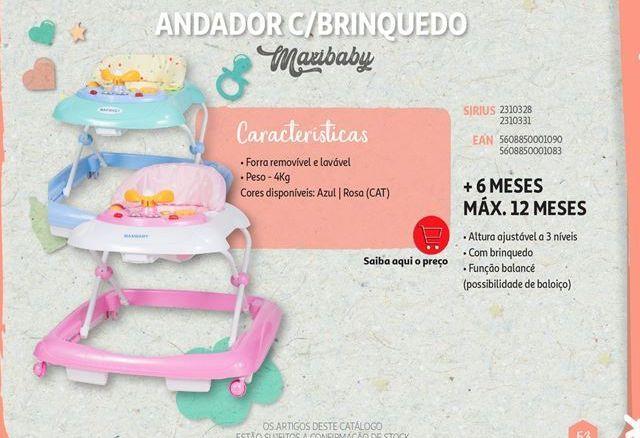 Oferta de Andador c/brinquedo Maxibaby por