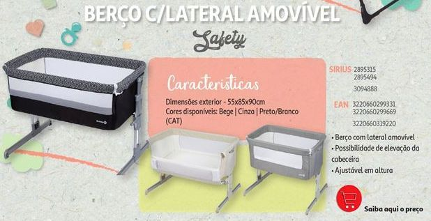 Oferta de Berço c/lateral amovivel Safety por