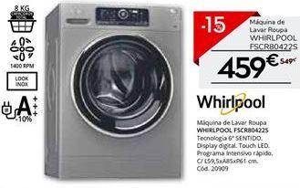 Oferta de Máquina lavar roupa Whirlpool por 459€