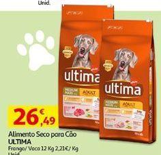 Oferta de Ração para cães Ultima por 26,49€