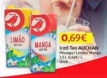 Oferta de Chá gelado Auchan por 0,69€