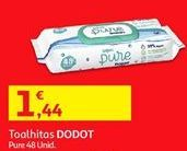 Oferta de Toalhas umedecidas Dodot por 1,44€