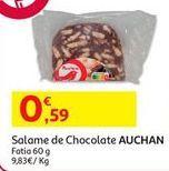 Oferta de Chocolates Auchan por 0,59€