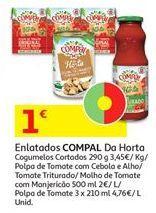 Oferta de Polpa de tomate Compal por 1€