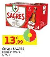 Oferta de Cerveja Sagres por 13,99€