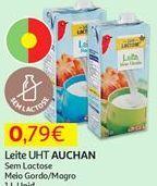 Oferta de Leite sem lactose Auchan por 0,79€