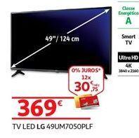 Oferta de Smart tv led LG por 369€