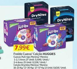 Oferta de Fraldas Huggies por 7,99€