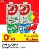 Oferta de Leite Auchan por 0,49€