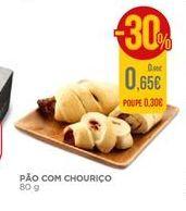 Oferta de Pão com chouriço por 0,65€