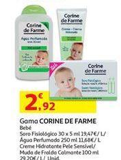 Oferta de Cuidados bebé Corine de Farme por 2,92€